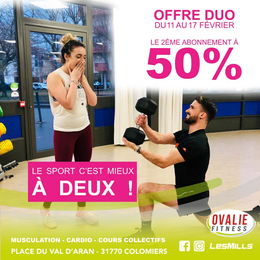 offre du moment ovalie fitness salle de sport. Black Bedroom Furniture Sets. Home Design Ideas